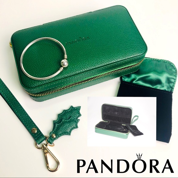 Pandora Jewelry Pandora Jewelry Green Travel Casebox New Poshmark